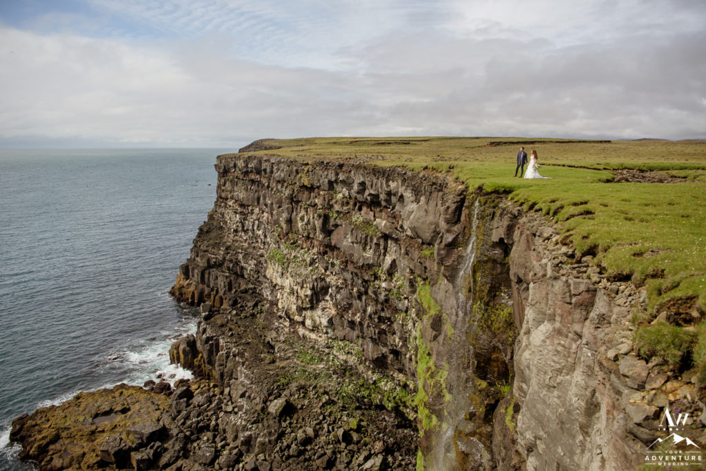 Cliffside Elopement Wedding Ceremony in Iceland