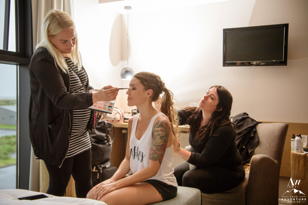 Iceland wedding makeup artist and hair stylist