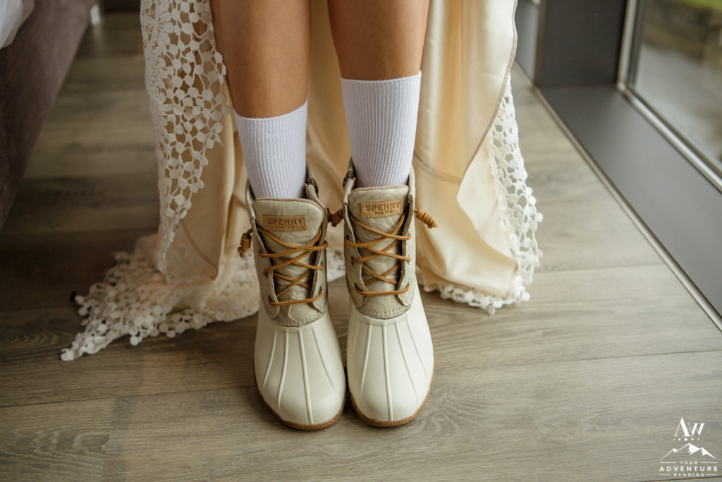 Sperry Ivory Boots for Iceland Elopement Adventure
