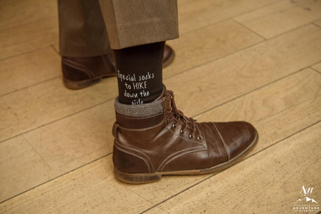 Hiking socks for Iceland Wedding Day