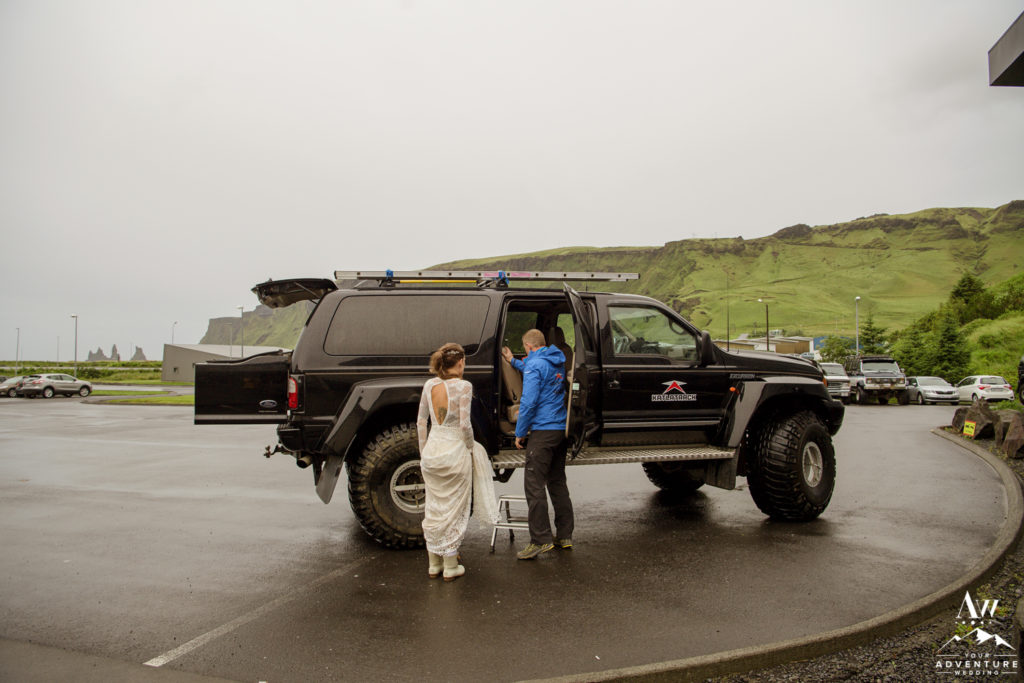 Iceland Super Jeep Bride Loading into it