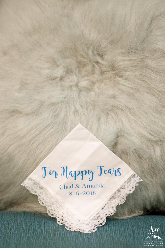 Handkerchief for happy tears Iceland elopement