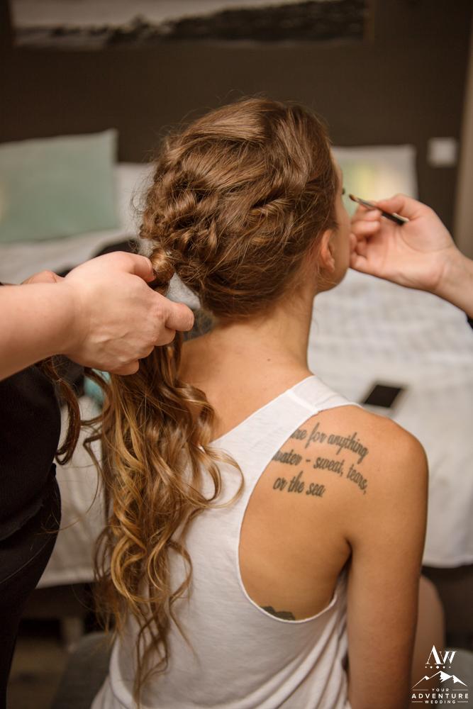 Iceland wedding hair stylist and makeup artist