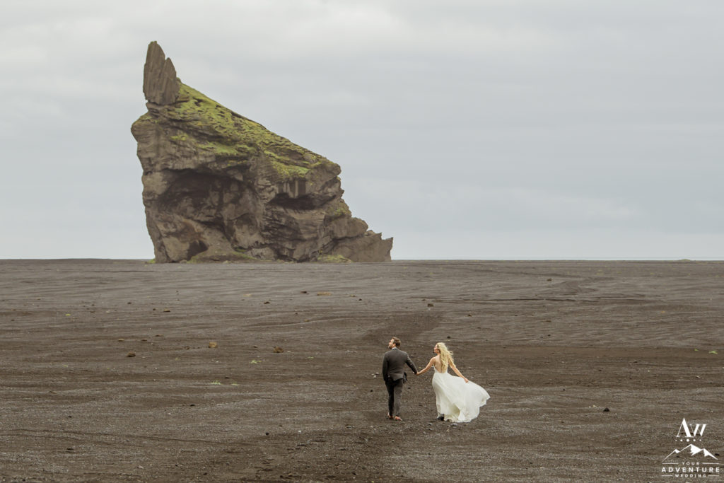 Iceland Elopement Photographer Couple on Black Desert