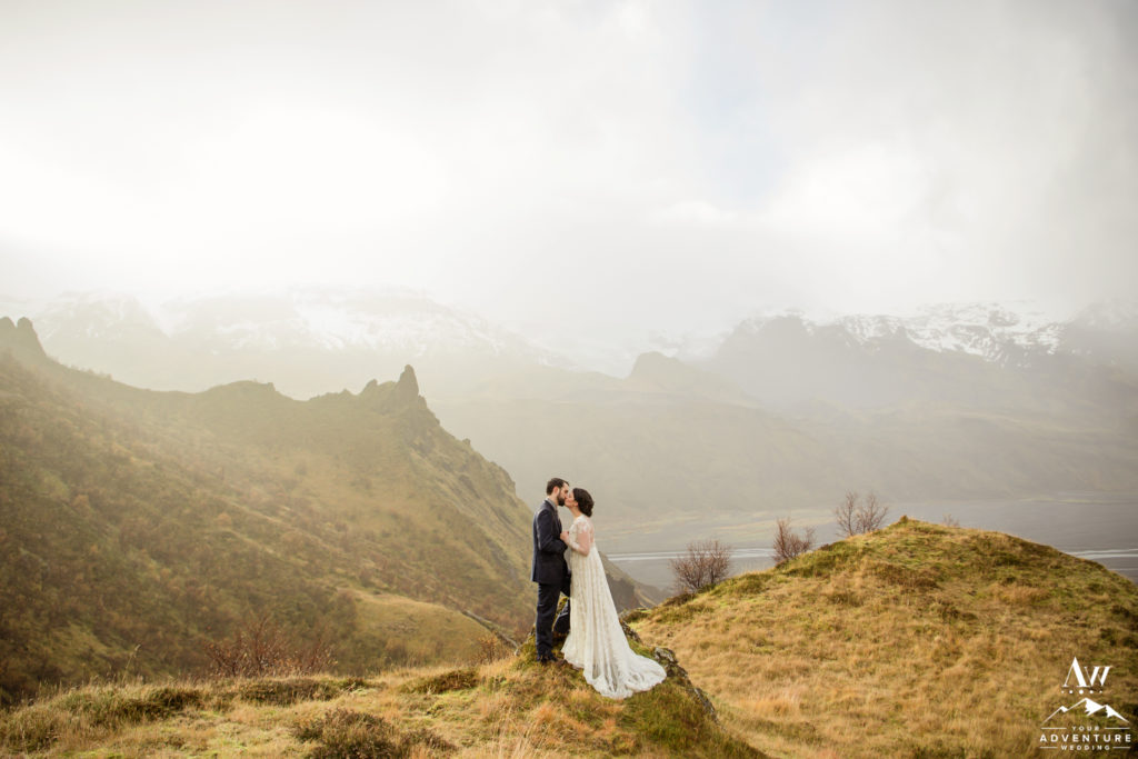 Iceland Elopement Packages Couple on a Mountain