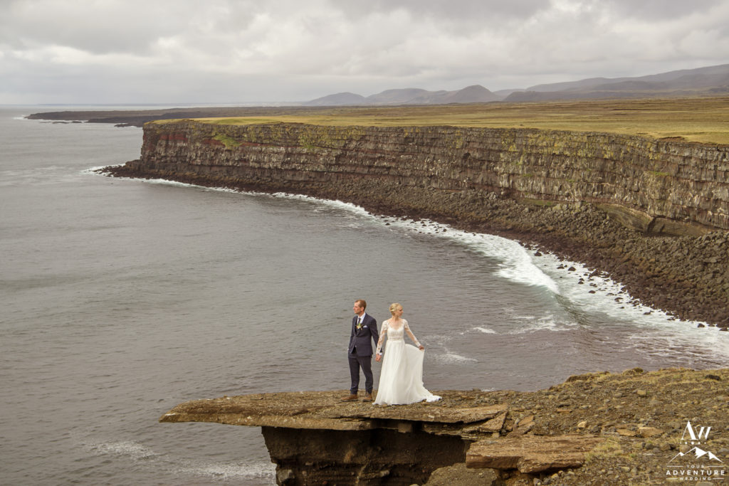 Couple eloping in the Reykjanes Peninsula