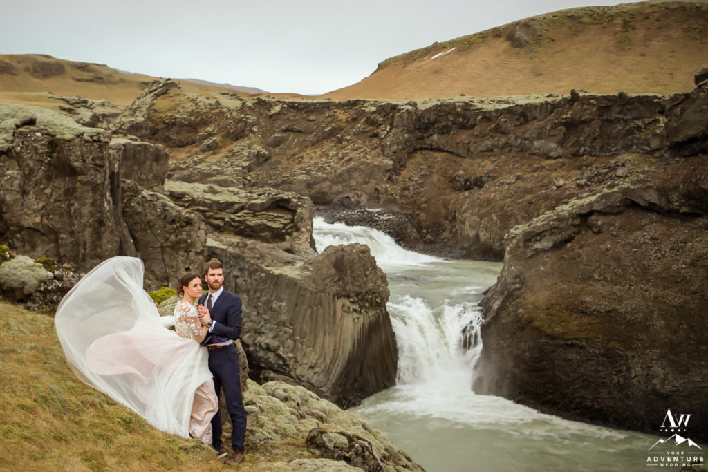 Wind challenges Iceland elopement adventure