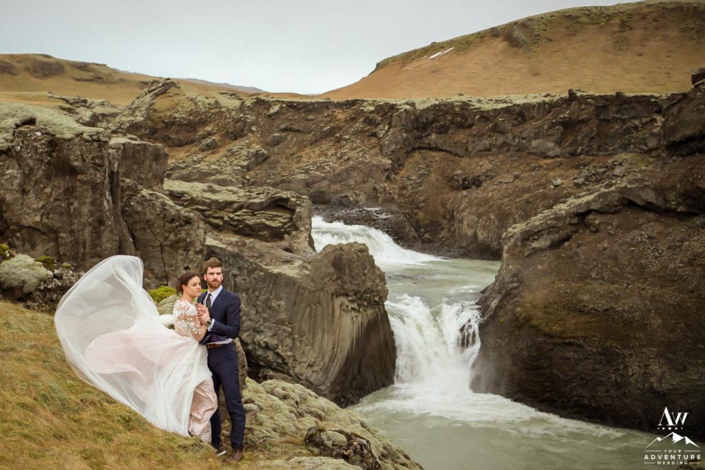 Wind challenges Iceland elopement adventure