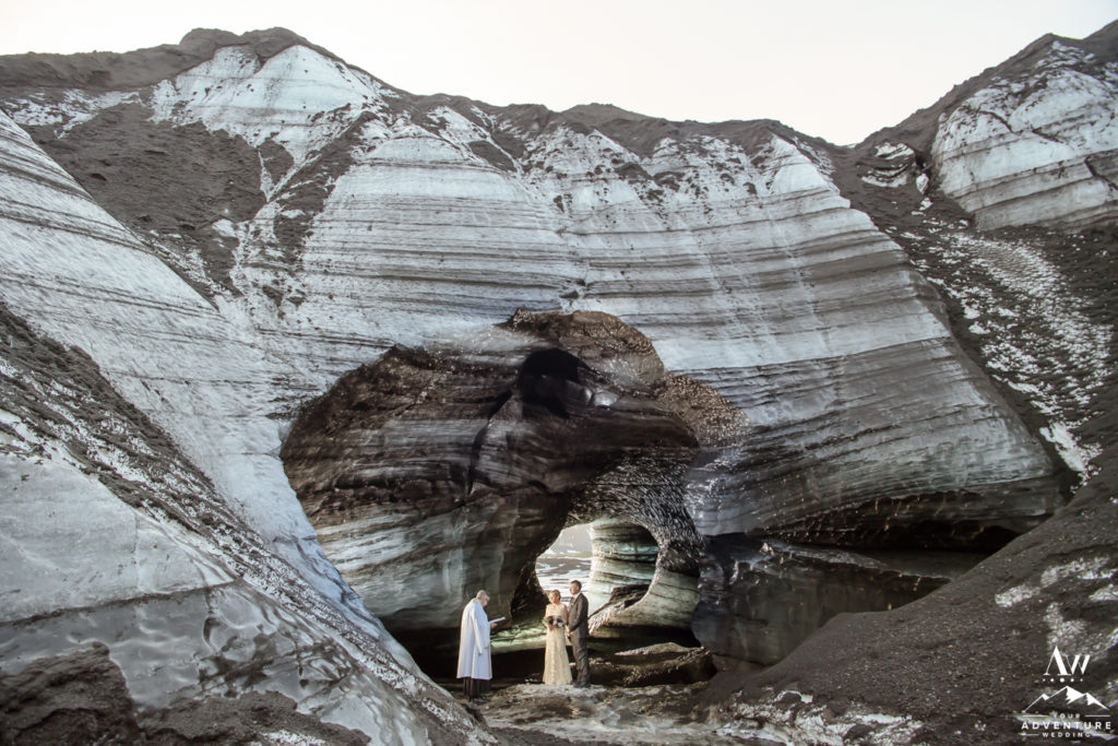 Ice Cave Wedding Ceremony in Iceland