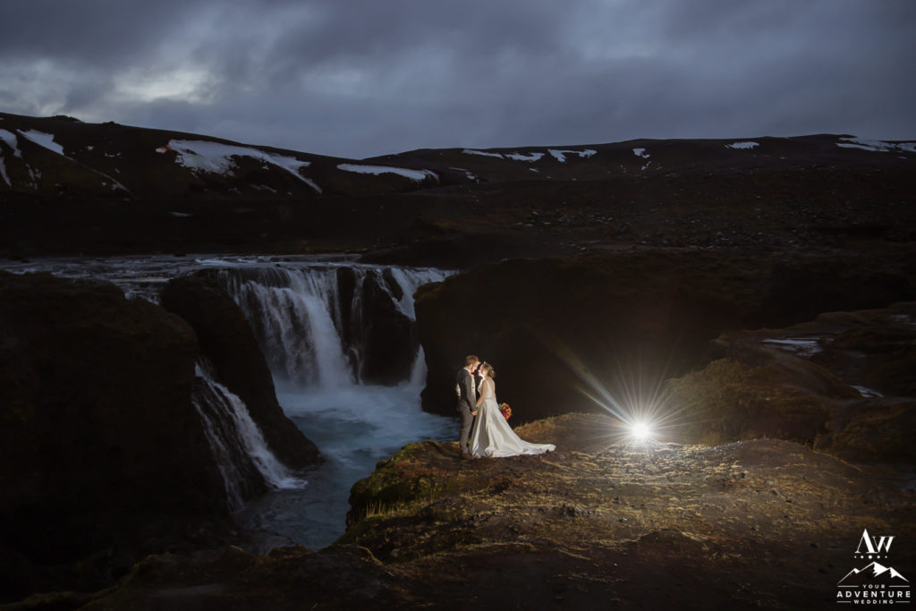 55 Offbeat and Unique Things to do in Iceland-couple at a private waterfall