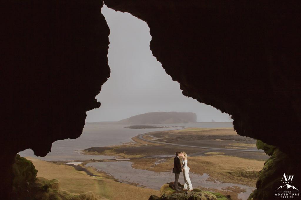 Cave Near Dyrholaey wedding photos Loftsalahellir