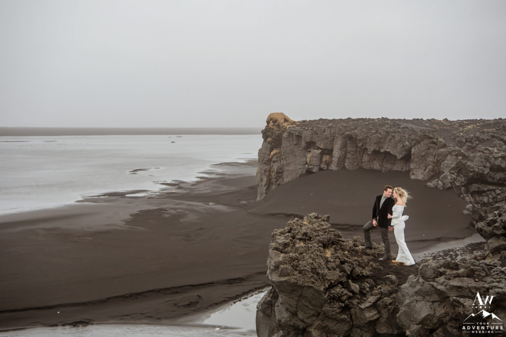 Iceland Private Black Beach Wedding