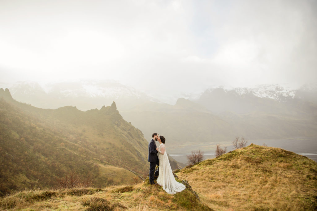Sunrise Mountain Wedding in Iceland