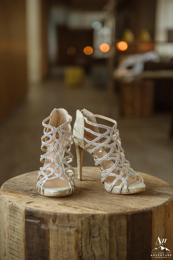 Iceland Wedding Elegant Reception Shoes