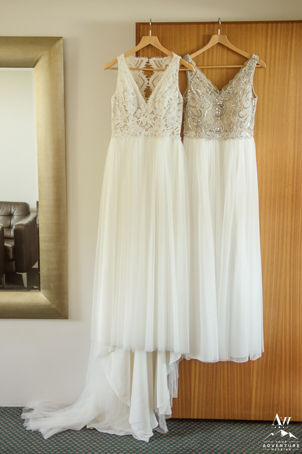 Iceland wedding dresses hanging