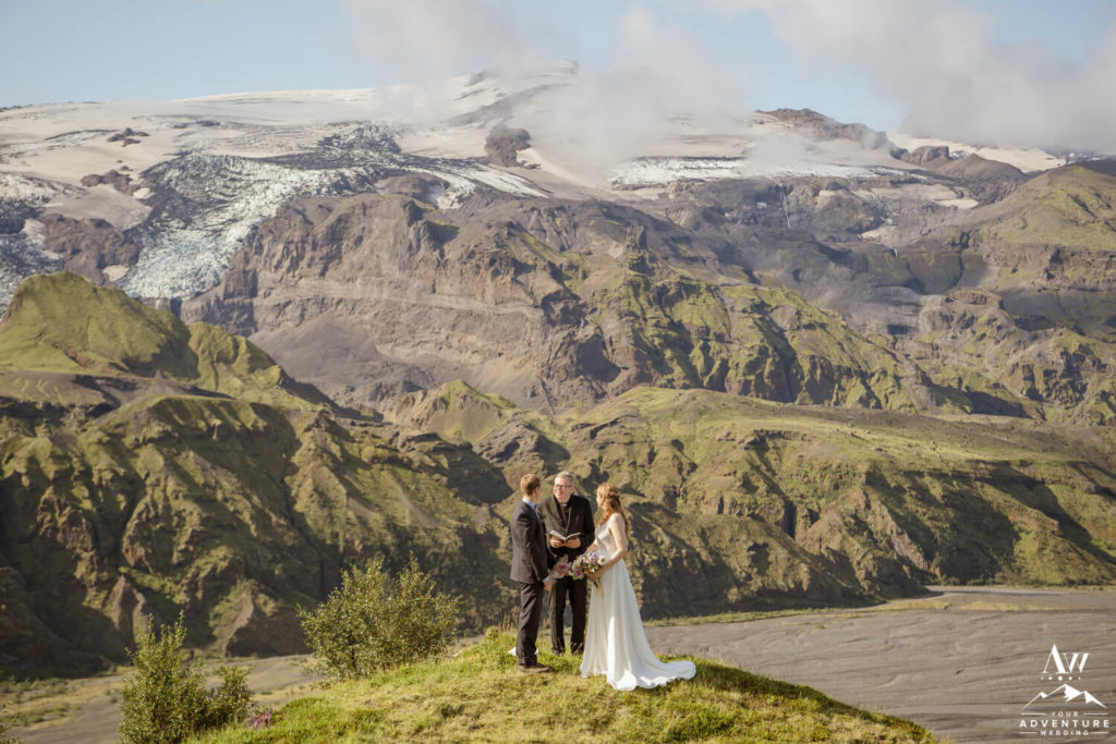 Adventure Elopement Ceremony on a Mountain in Iceland