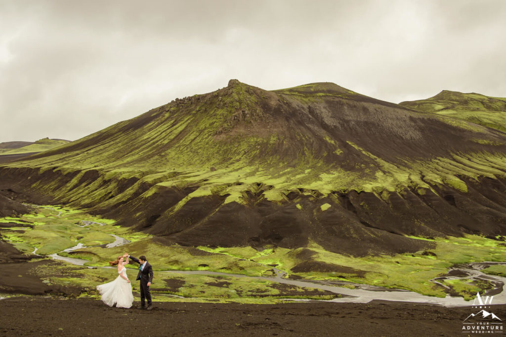 Out of this world wedding in Iceland Couple dancing
