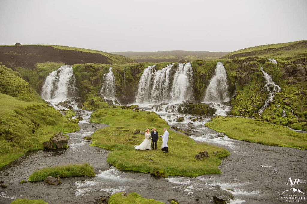 Wedding Ceremony at a Waterfall in Iceland