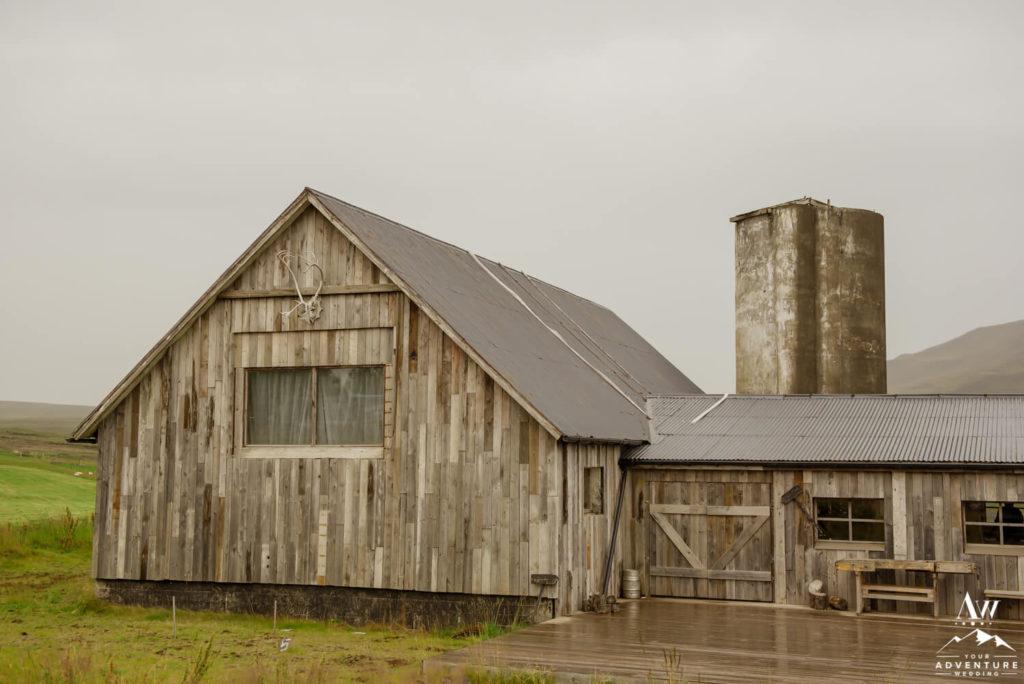 Outside of Hotel Borealis Barn