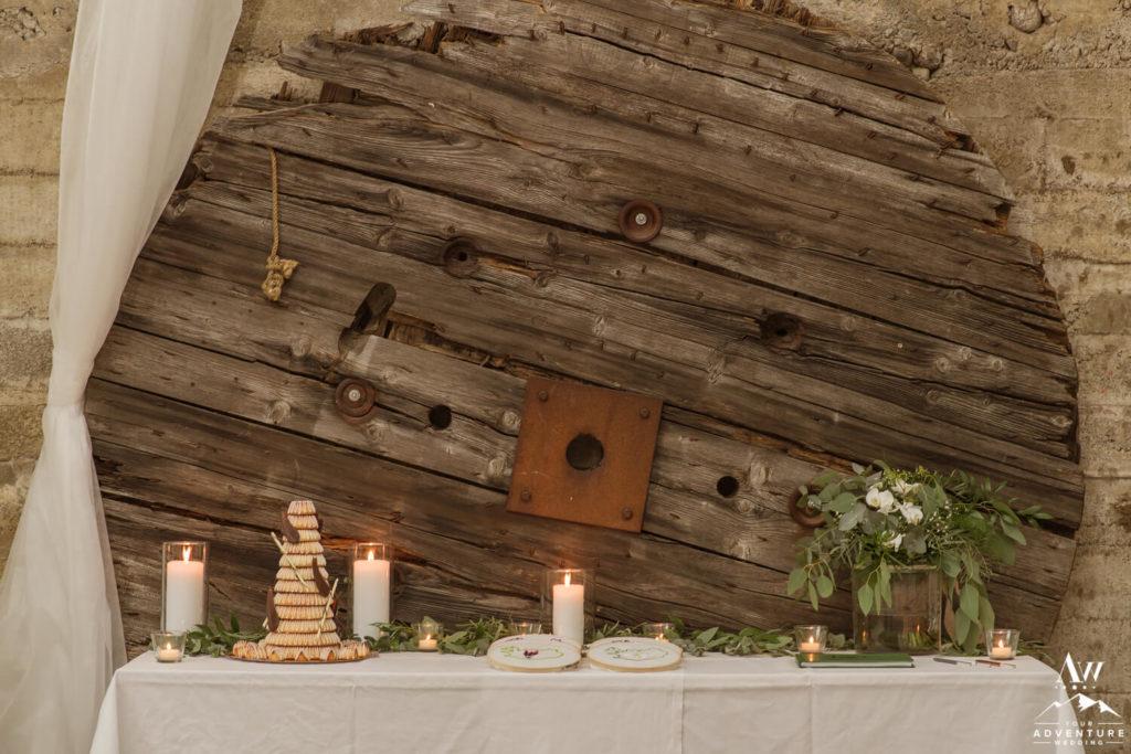 Iceland Wedding Cake Table