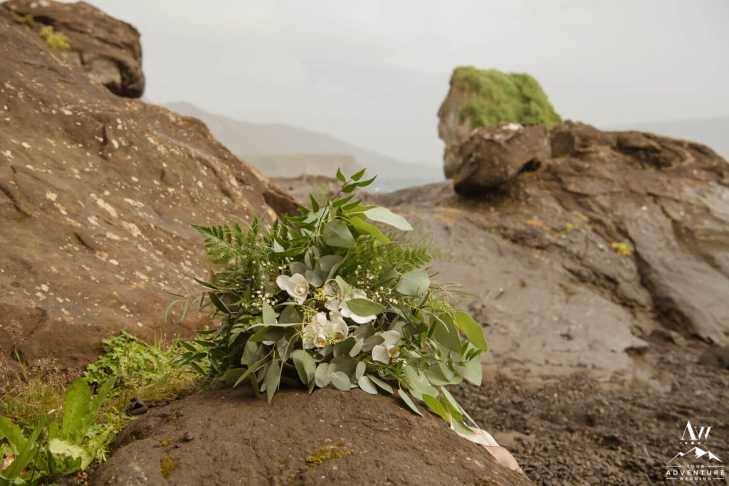 Greenery Bouquet for Iceland Wedding