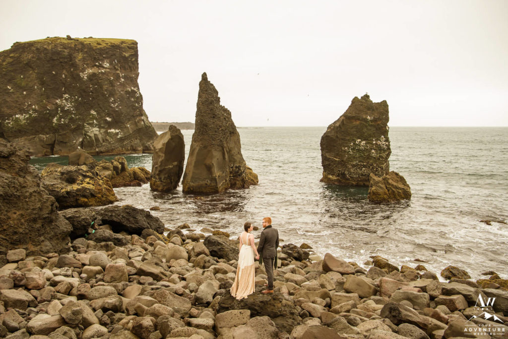 July Iceland Wedding Couple at Reykjanesviti