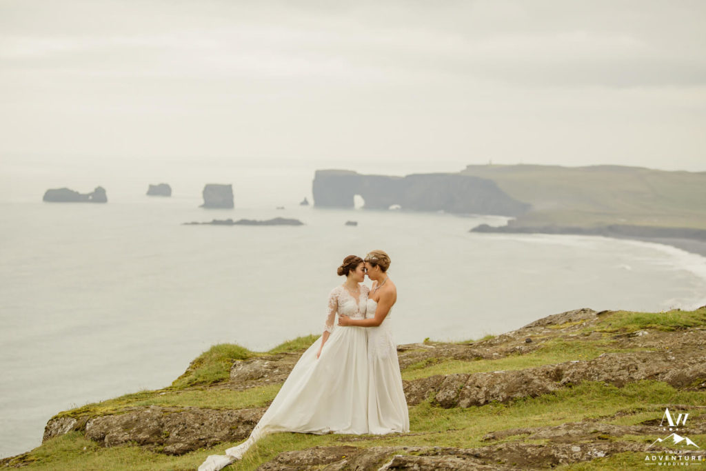 LGBT Wedding in Iceland Brides on a mountain