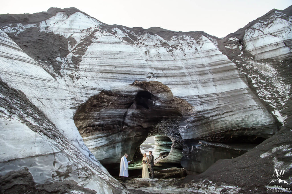 Ice cave elopement ceremony in Iceland