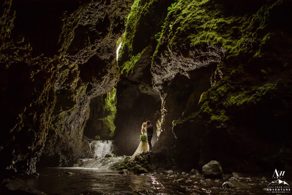 Iceland wedding couple at Nauthsgill