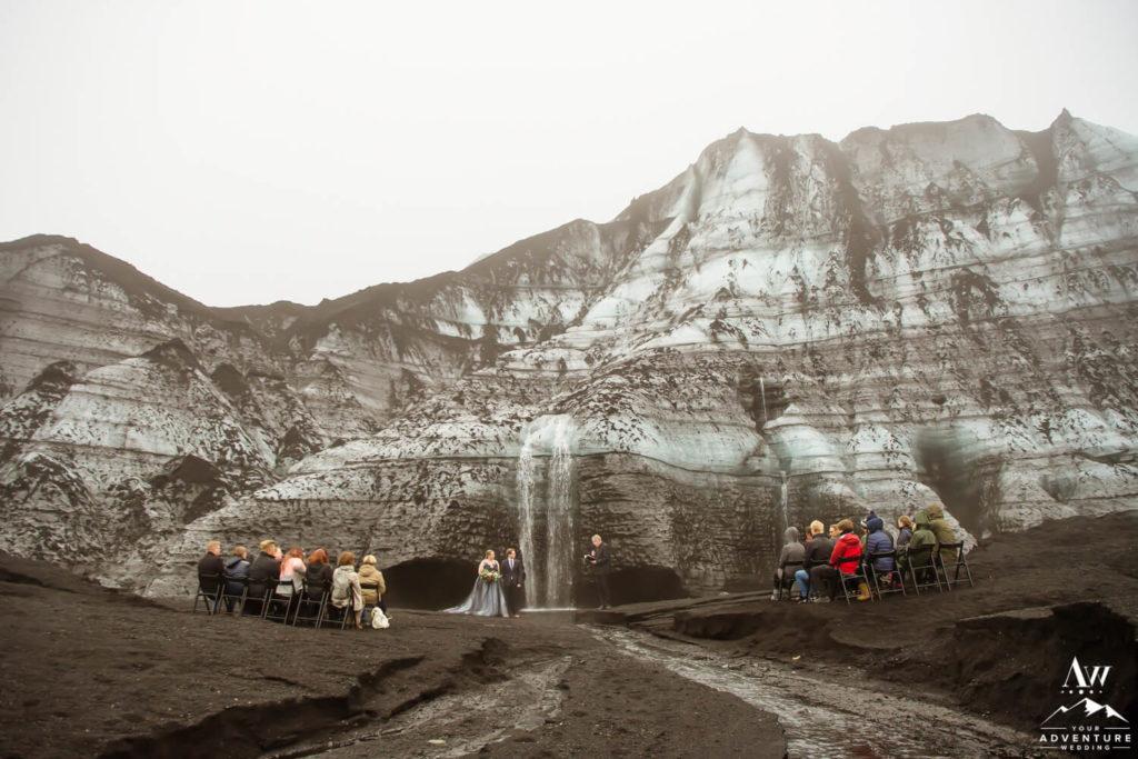 Wedding ceremony at a Glacier in Iceland