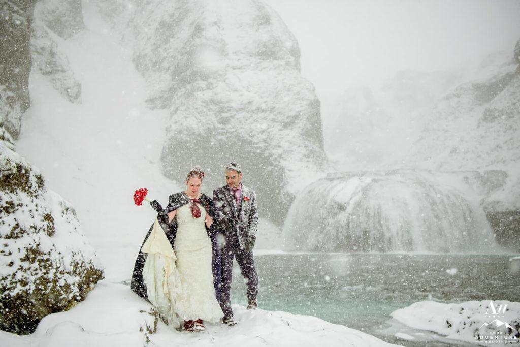Blizzard Elopement in Iceland