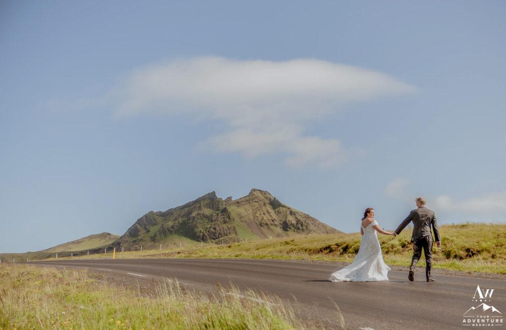 Couple Walking in Vik Iceland