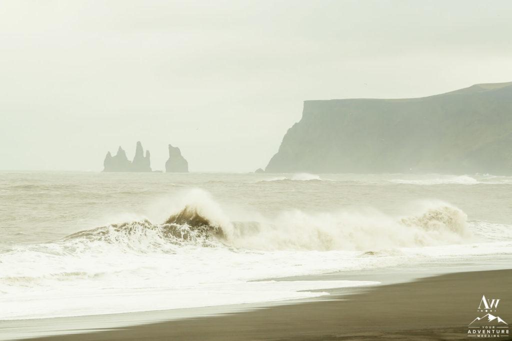 Reynisdragar rock formations in Vik Iceland