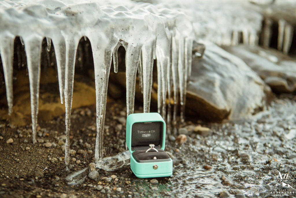 Tiffany Ring with Icicles in Iceland