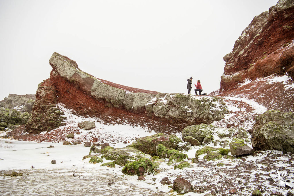 Heiðmörk Marriage Proposal on the Red Cliffs