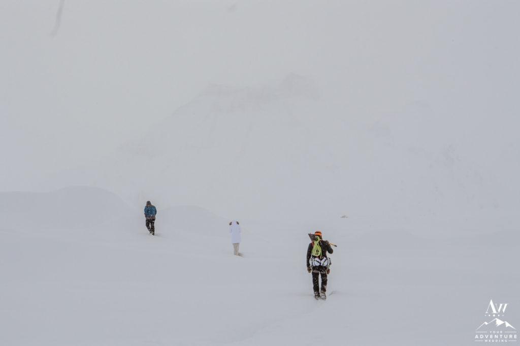 Blizzard wedding in Iceland