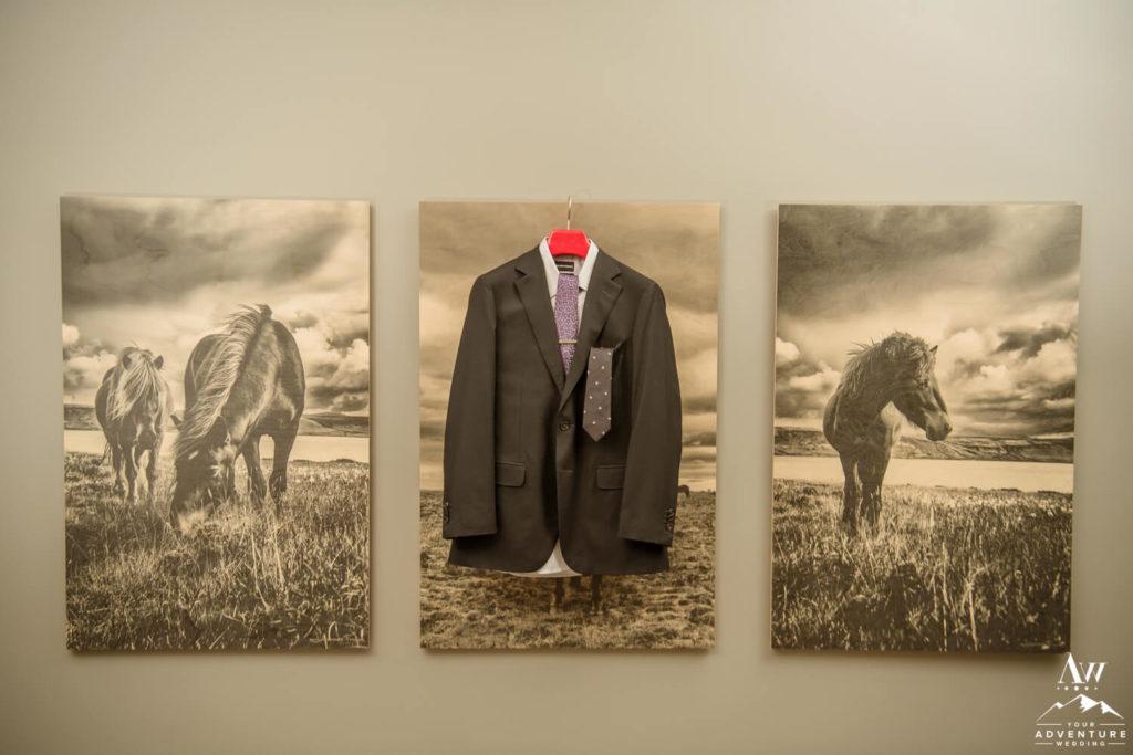 Iceland Elopement Groom Suit
