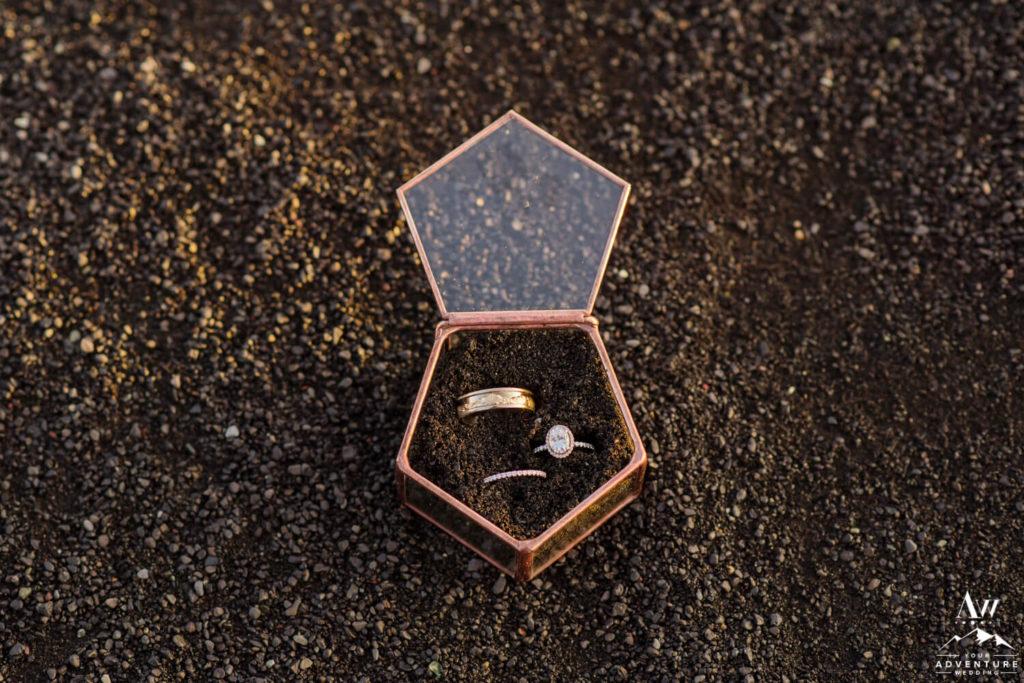 Iceland Wedding Rings in Black Sand