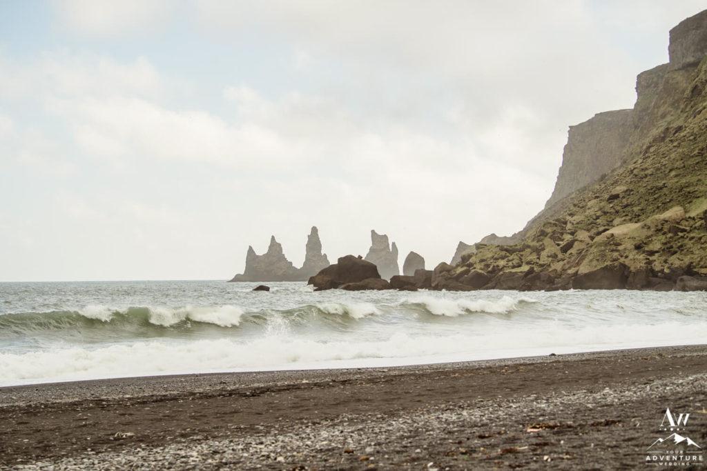 Landscape of Iceland's Vik Beach