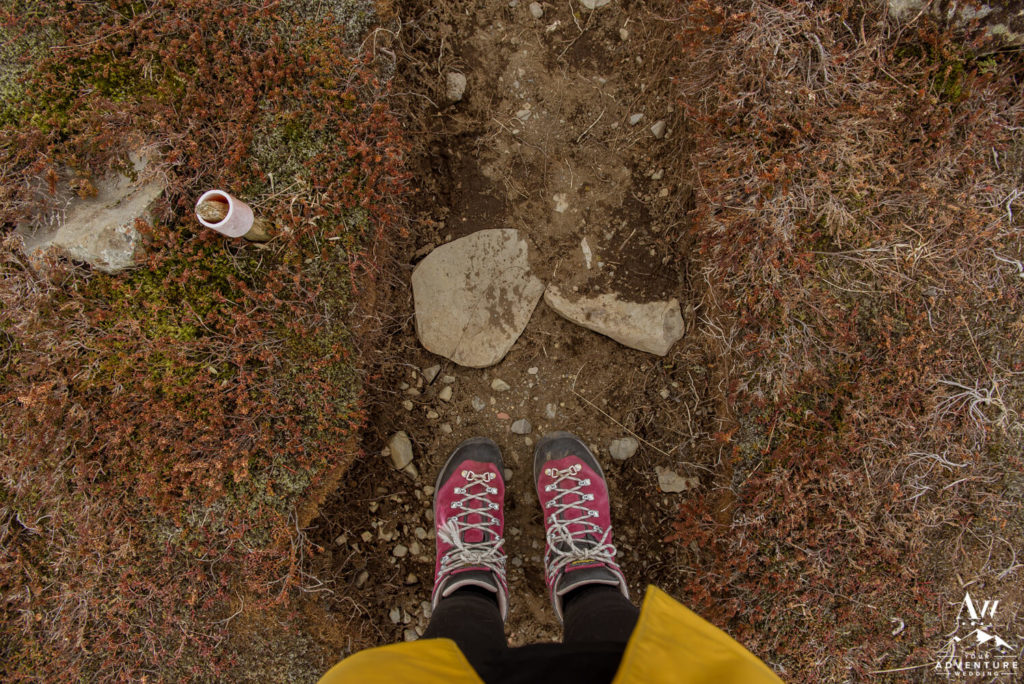 Hiking in Iceland Pink Boots