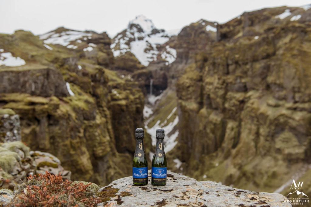 Champagne splits at Múlagljúfur Canyon in Iceland