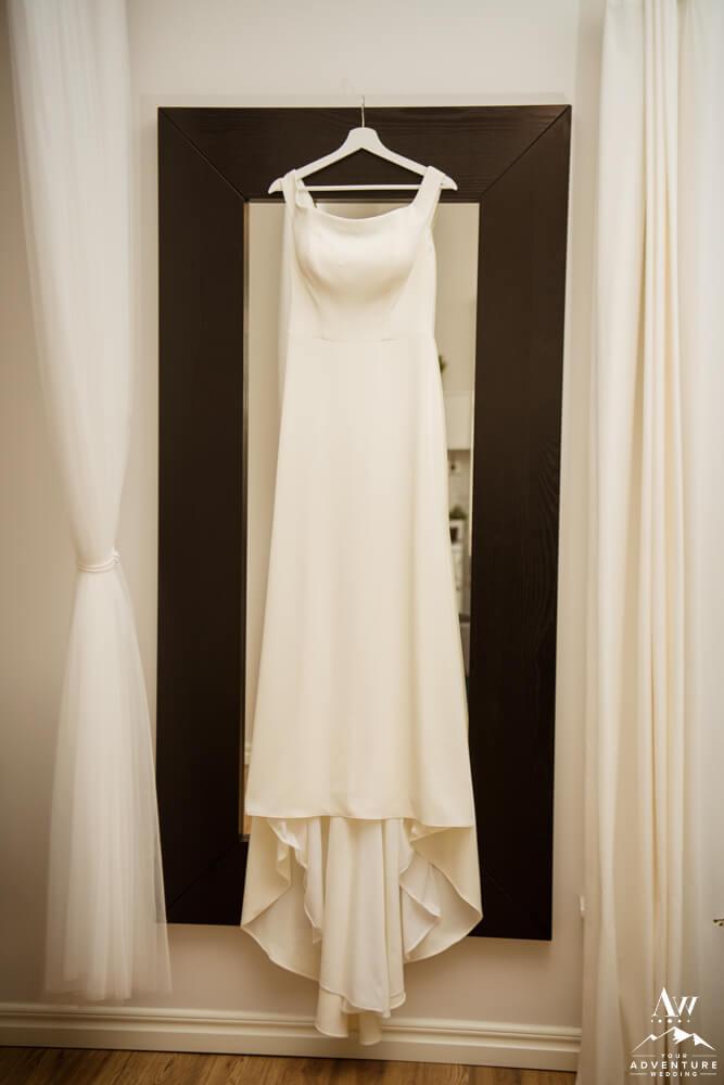 Iceland Elopement Dress Hanging