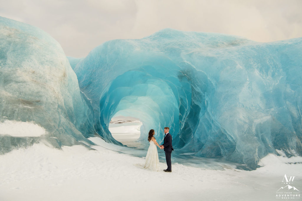 Ice Cave Elopement Couple