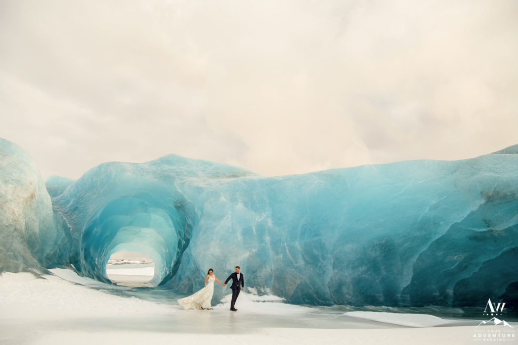 Blue Ice Cave Elopement in Iceland