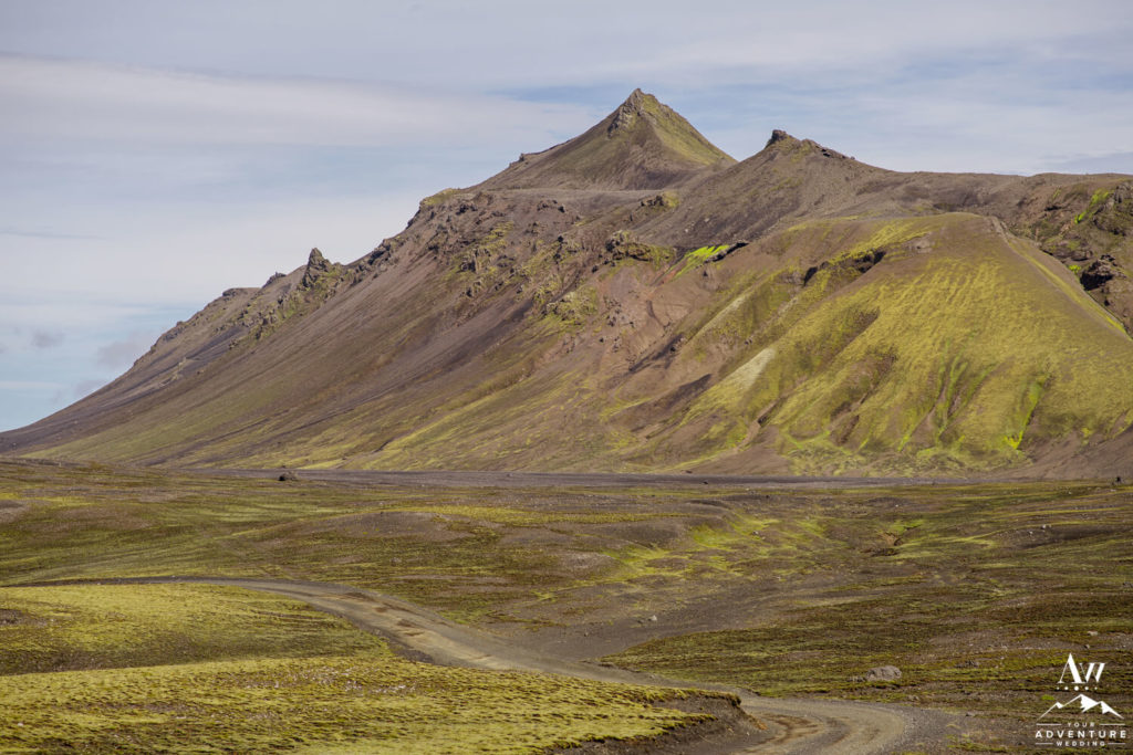 Icelandic Highlands Road and Mountains
