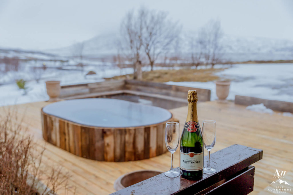 Luxury Adventures in Iceland Champagne and Hot Tub
