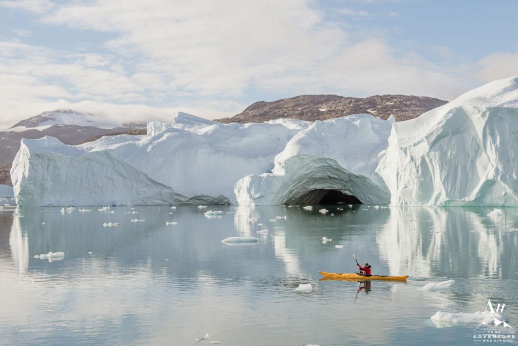 Kayaker in Greenland