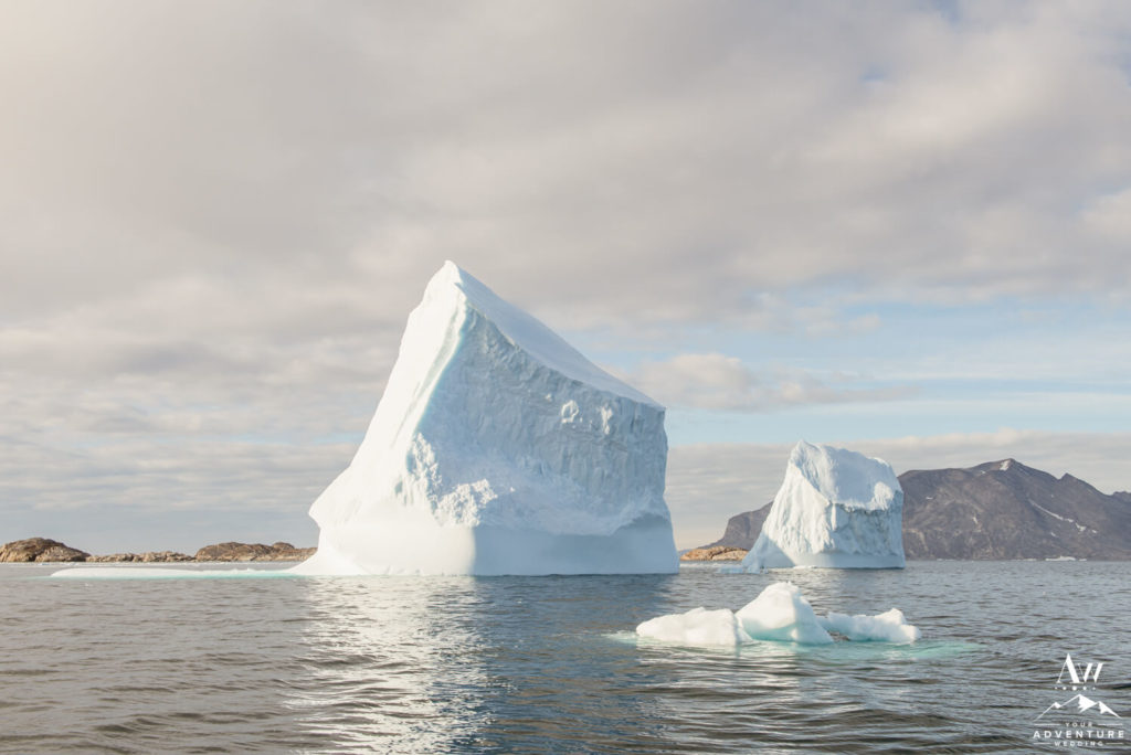 Tall Icebergs in Greenland