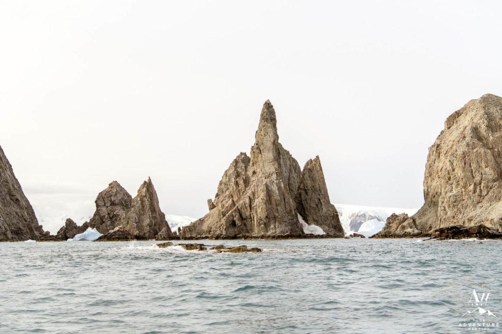 Basalt Stacks in Antarctica