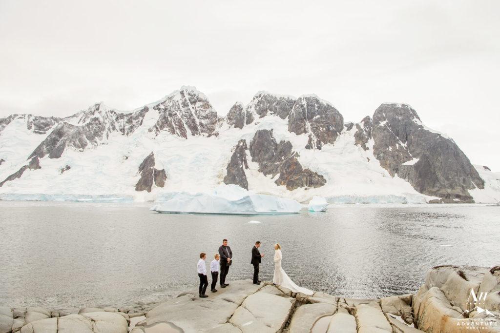 Wedding ceremony in Antarctica